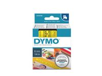 DYMO D1 6mm Sort/Gul (S0720790)