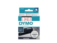 DYMO D1 Tape / 9mm x 7m / Red Text / White Tape (S0720700)