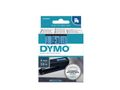 DYMO D1 Tape / 9mm x 7m / Black Text / Blue Tape