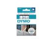 DYMO D1 Tape / 12mm x 7m / Blue Text / Transparent Tape