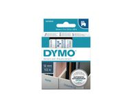 DYMO D1-TAPE 12MM X 7M BLUE ON TRANSPARENT (S0720510)