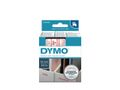 DYMO D1 Tape / 12mm x 7m / Red Text / Transparent Tape