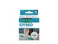 DYMO D1 Tape / 12mm x 7m / Black Text / Green Tape