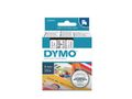 DYMO D1 Tape / 6mm x 7m / Black Text / Transparent Tape
