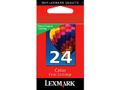 LEXMARK Ink Cart No24/ Color Return 190sh
