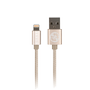 GUESS CHARGING CABLE MFI LIGHTENING GOLD NYLON CORD