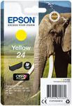 EPSON 24 ink cartridge yellow standard capacity 4.6ml 360 pages 1-pack blister without alarm (C13T24244012)