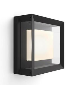 PHILIPS Hue - Econic Square Wall Lantern Black - White & Color Ambiance (915005731901)