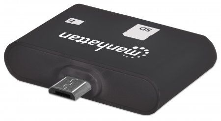 MANHATTAN MANHATTAN OTG Smart Card Reader, 24-in-1 Card Reader/ Writer,  sort kortlæser (406208)