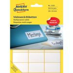 Etiket Avery 3325 Hvid 24x38mm Mp/522