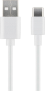 MICROCONNECT USB3.1 C -  USB2.0 2M Charging and Sync cable Max.3A 28+24AWG CU, OD 4.5MM White