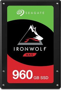 SEAGATE NAS SSD 960GB SATA 6Gb/s 2.5inch height 7mm 3D TLC 24x7 IronWolf BLK (ZA960NM10011)