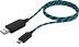 RAIDSONIC USB 2.0 Type-A to Type-C™ , 1m, electroluminescent,  Black/ Blue