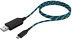RAIDSONIC USB 2.0 Type-A to Micro-B, 1m, electroluminescent,  Black/ Blue