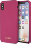 GUESS SILICONE GOLD LOGO PINK IPHONE X