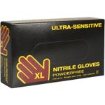 Engangshandske,  Ultra Sensitive,  Boisen Safety, XL, blå, nitril, pudderfri