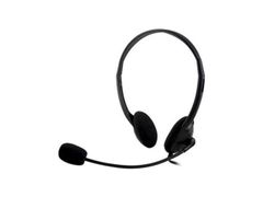 DELTACO on-ear headset med volymkontroll, 4-polig 3,5mm, svart