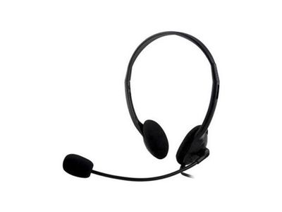DELTACO on-ear headset med volymkontroll,  4-polig 3,5mm, svart (HL-21)