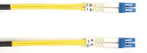 BLACK BOX FO OS1/2 SINGLE-MODE PATCH CABLES LSZH - LC-LC DUPLEX, 10M (EFE080-010M)