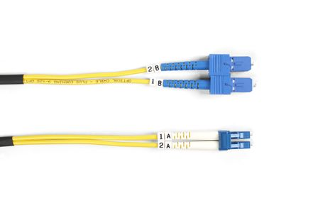 BLACK BOX FO OS1/2 SINGLE-MODE PATCH CABLES LSZH - LC-SC DUPLEX, 15M (EFE081-015M)