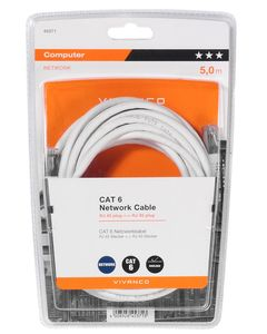 VIVANCO CAT6 RJ45 - RJ45 Network lead 5m White (45371)