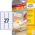 Removable labels 63.5x29.6mm