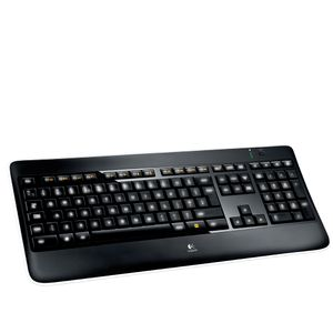 LOGITECH K800 wireless Illuminated Keyboard 2.4GHZ (PAN) NORDIC (920-002388)