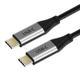 CABLETIME Cabletime USB-C kabel 1,0m Gen2, 3.1, 20Gb, 4K60Hz, , Thunderbolt kompatibel,  Nylon kappe