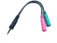 MICROCONNECT Adapter 3.5mm - 2x3.5mm M-F