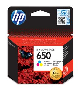 HP INK CARTRIDGE 650 TRI-COLOUR                       IN SUPL (CZ102AE#BHK)