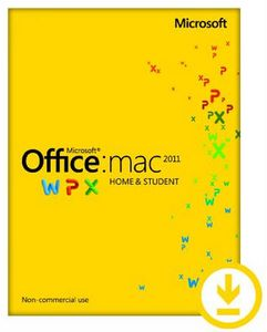 MICROSOFT OFFICE MAC HOME STUDENT 2011 ES PK LIC ONLINE DWNLD 1MAC NR SP (GZA-00229)