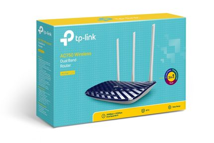 TP-LINK AC750 Dual Band Wireless Router Mediatek 433Mbps at 5GHz + 300Mbps at 2.4GHz 802.11ac/ a/ b/ g/ n (ARCHER C20)