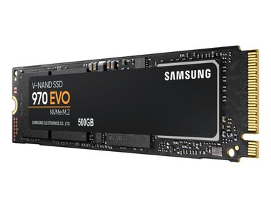 SAMSUNG 970 EVO 500GB SSD NVMe 1.3, M.2, V-NAND MLC, up to 3400/ 2300MB/ s read/ write,  300TBW (MZ-V7E500BW)