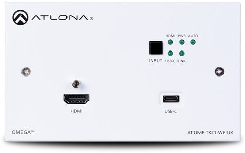 Atlona Wallplate Switcher (HDMI and USB-C) (AT-OME-TX21-WP-E)