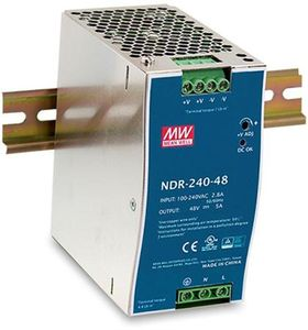 D-LINK DIN Rail PSU, 240W, 90-265VAC,  Ultra Slim, black (DIS-N240-48)