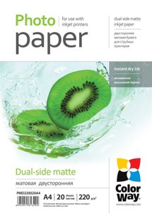 COLORWAY Matte Dual-Side Photo Paper,20 (PMD220020A4)