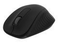 DELTACO wireless optical mouse 2,4GHz, 3 buttons with a scroll, black