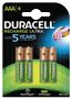 DURACELL Recharge Ultra AAA 900mAh, 4pk - Precharged