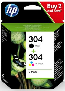 HP 304 INK CARTRIDGE COMBO 2-PACK (3JB05AE#301)