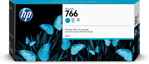 HP 766 300-ml Cyan Ink Crtg (P2V89A)