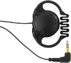 MONACOR on-earphone,  mono, 3.5 mm, black