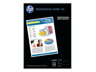 HP Professional Glossy Laser Paper 120 gsm-250 sht/ A4/ 210 x 297 mm (CG964A)
