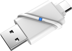 DELTACO USB3.1 Type-C/A Micro SD Card reader