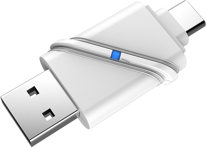 DELTACO USB3.1 Type-C/A Micro SD Card reader (Y-9323)