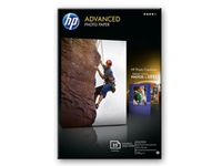 HP Advanced glanset fotopapir,  25 ark / 10 x 15 cm kantløs