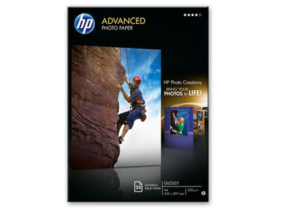 HP Q5456A Advanced glossy photo paper inkjet 250g/m2 A4 25 sheets 1-pack (Q5456A)