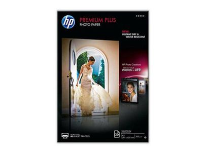HP Premium Plus glättat papper 50 ark/ A4/ 210 x 297 mm (CR674A)