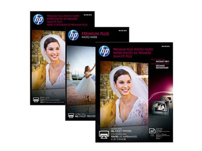 HP Premium Plus glanset fotopapir – 50 ark/10 x 15 cm (CR695A)