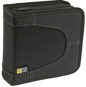 CASE LOGIC CD WALLET NYLON BLACK HOLDS UP TO 32 CD S                 (CDW32               )