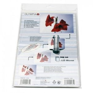 OLYMPIA 1x25 Laminating pouches DIN A4 125 micron (9185)